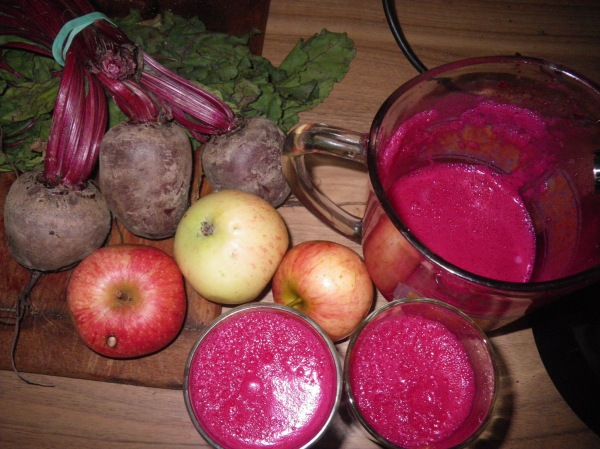 beetroot and discovery pple juice...yum
